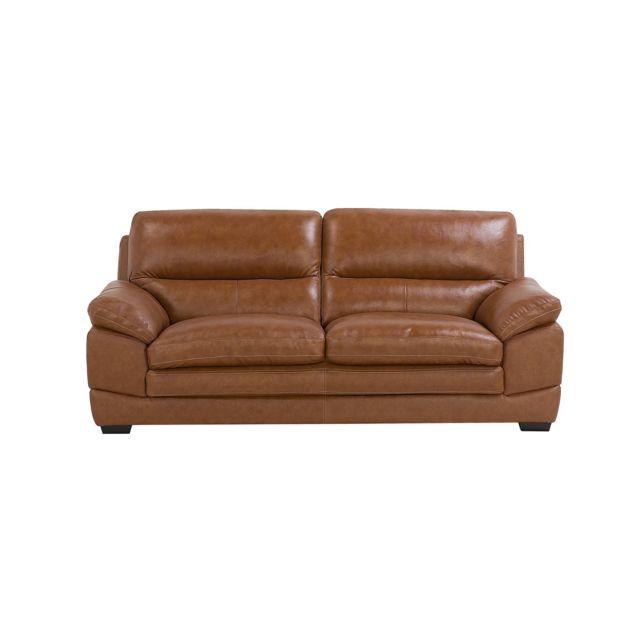 BELIANI Canapé en cuir marron HORTEN