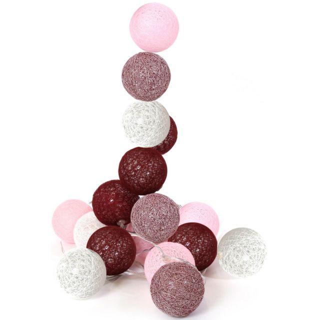Déco Boule Rouge Rose Led M Guirlande 45 20 Lumineuse 3 qUpSMVGz