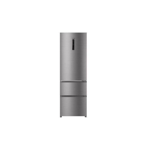 HAIER Hb-635cshj - Refrigerateur Multi-portes - 330l 233+97 - Froid Ventile - A+ - L 59,5cm X H 190,5cm - Silver