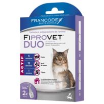 Francodex - Traitement Spot-On Fiprovet Duo pour Chat 2x0,5ml