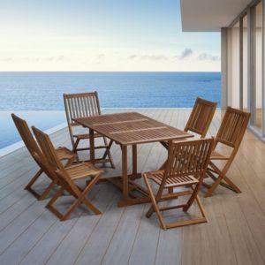 Sunrise - Salon de jardin acacia Tonga Brun - pas cher Achat / Vente ...