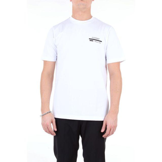 Covert Homme Mm9018S02MC334BIANCO Blanc Coton T-shirt