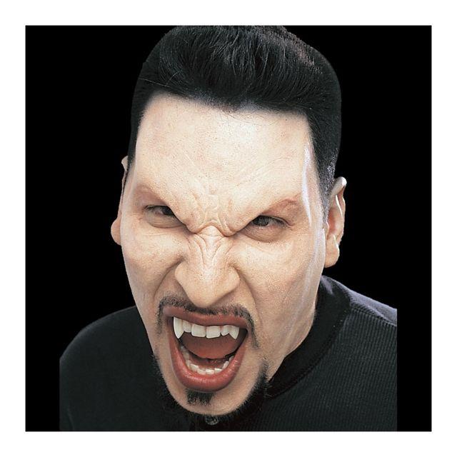 Marque Generique Prothèse visage de vampire en mousse Non peinte, uniquement pour homme et femme adulte, prothèse visage de vampire en mousse.A maquiller.