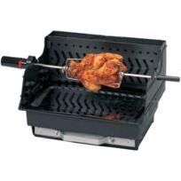 Invicta - Barbecue bois Assouan à batir - grille rectangle : 45 x 33 cm
