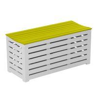 City Green - Banc / coffre de jardin en acacia 90x38x43cm - 147L Burano - Vert anis