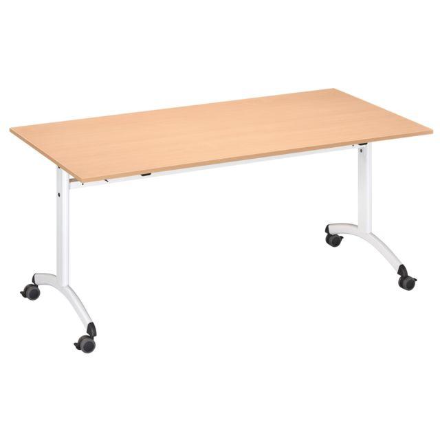 Table Galice 3 rectangulaire 160 x 80 cm blanc