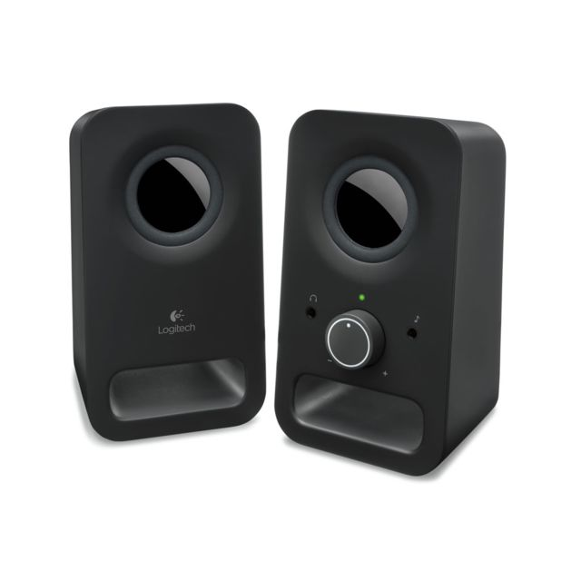 LOGITECH Enceintes Z150 MIDNIGHT BLACK SOA PLA Z150 Multimedia Speakers Deux transducteurs de 5 cm Entrée audio de 3,5 mm et ligne auxiliaire de 3,5 mm Commandes intégrées intégrées Taille compacte