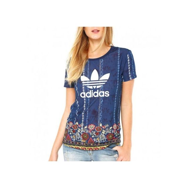 ADIDAS ORIGINALS T shirt Femme Bleu électrique Achat