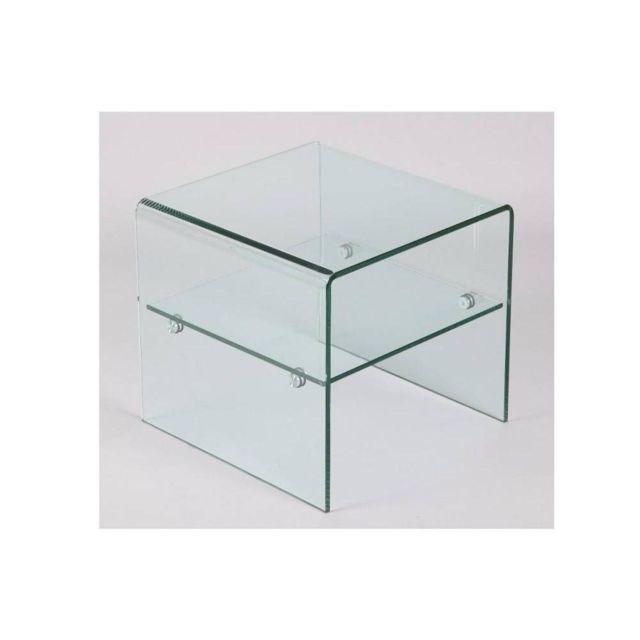inside 75 bout de canap hestia en verre achat vente canap s pas chers rueducommerce. Black Bedroom Furniture Sets. Home Design Ideas