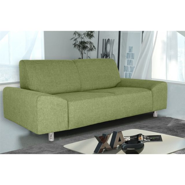 Rocambolesk Canapé Quick 2 savana 08 vert+pieds chrom sofa divan