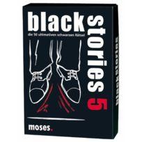 """moses. - 545 - Jeu De SociÉTÉ """"BLACK Stories 5"""" - 50 Devinettes - Langue : Allemand"""