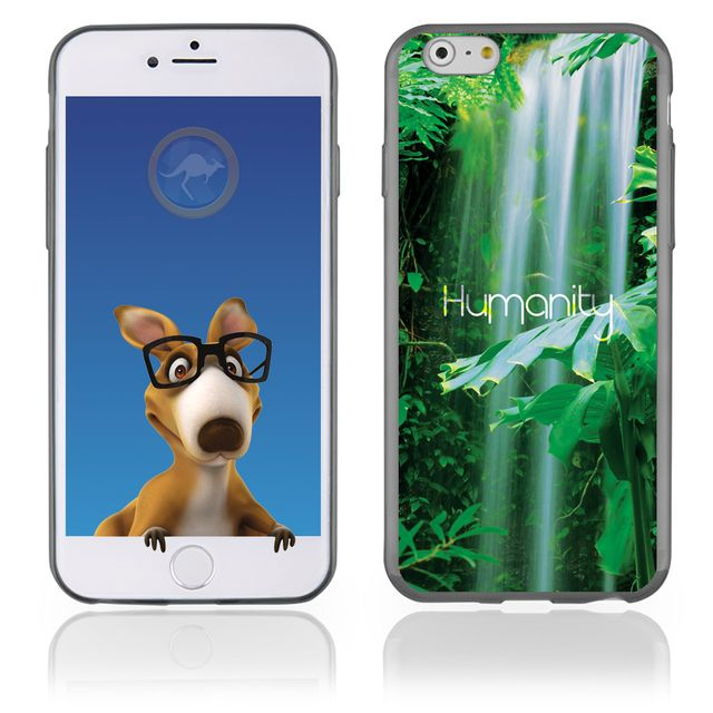 Kabiloo coque souple en gel pour apple iphone 6 avec impression humanity