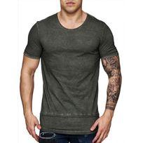 Freeside - Tee shirt long cintré 16108 Vert kaki