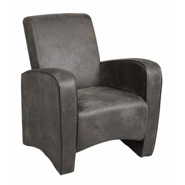 Inside 75 Petit fauteuil Seated microfibre grise