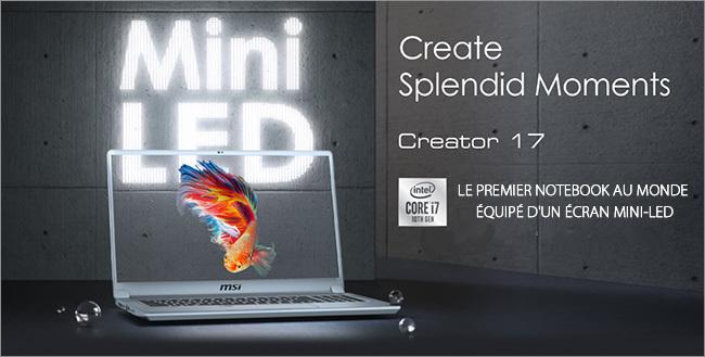MSI Creator 17 Mini LED