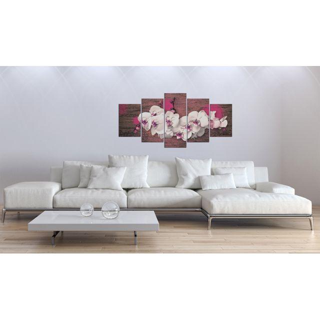 200x100 Tableau Joli Joie et orchidée