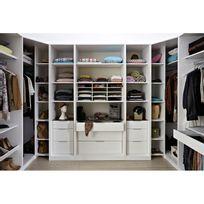 armoire dressing noir achat armoire dressing noir pas cher rue du commerce. Black Bedroom Furniture Sets. Home Design Ideas