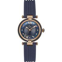 Gc - Montre LadyChic Y18005L7 - Montre Acier Silicone Bleue Femme