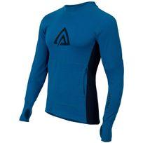 Aclima - Warmwool - Sous-vêtement en laine mérinos - bleu/noir