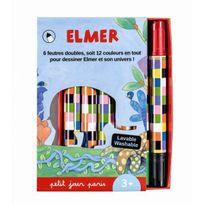 Petit Jour Paris - Boîte de 6 feutres doubles pointe Elmer