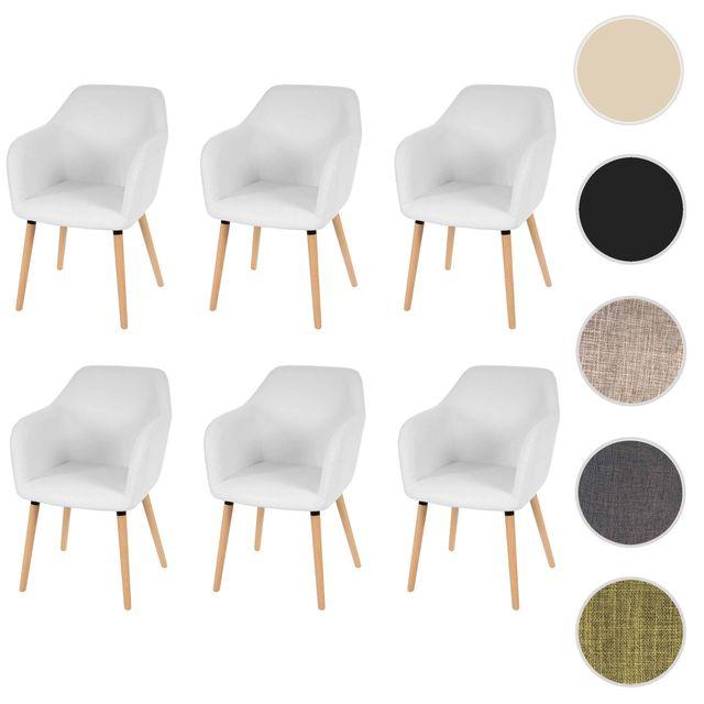 mendler 6x chaise de s jour salle manger malm t381 style r tro des ann es 50 similicuir. Black Bedroom Furniture Sets. Home Design Ideas