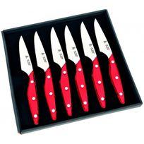 Aunain - Coffret 6 couteaux rouge Brasserie Au Nain