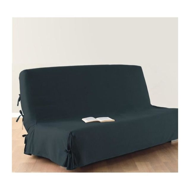 housse de clic clac 140 x 200 cm 100 coton bleu. Black Bedroom Furniture Sets. Home Design Ideas