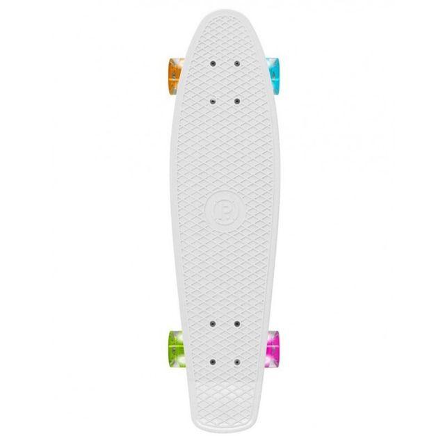 Prohibition - Skateboard Retro Plastic W / Lumina Wheels - White