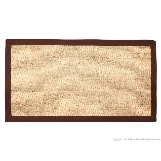 dlm tapis sisal en coton marron 75x200cm bayview pas cher achat vente tapis rueducommerce. Black Bedroom Furniture Sets. Home Design Ideas