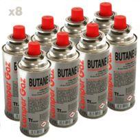 Providus - Pack de 8 cartouche gaz Camper Gaz 227gr butane - bouteille de gaz à baillonnette 227 gr - bonbonne pour réchauds camping