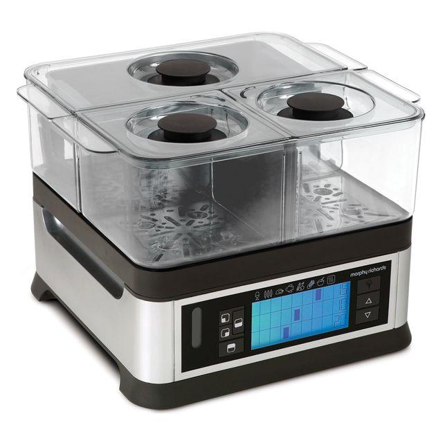 MORPHY RICHARDS cuiseur vapeur 3 paniers 1600w silver - 48780