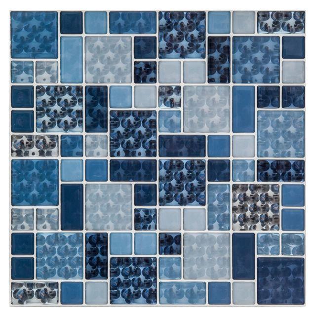 Atmosphera - 2 Stickers carrelage Eyes - Bleu - pas cher Achat ...