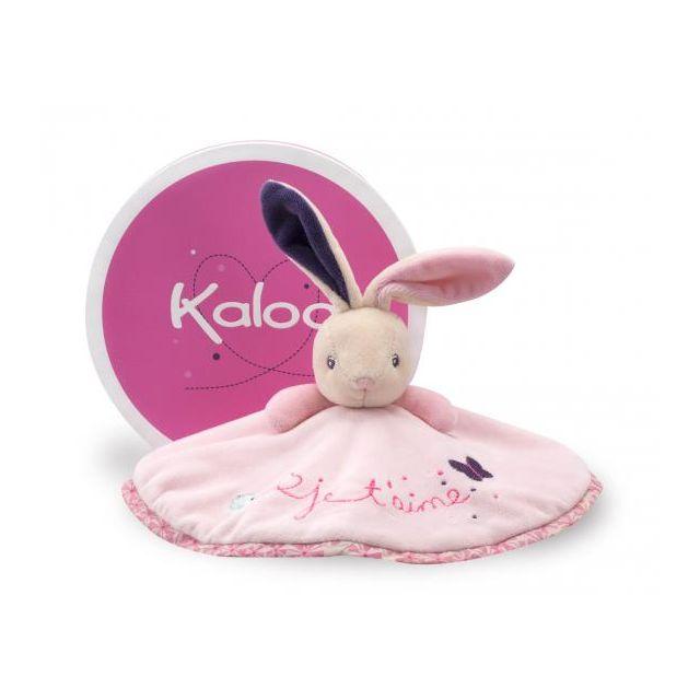 Kaloo - Petite rose - doudou lapin rond - je t'aime - K969866