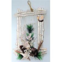 Somoplast - Création en bois cadre mural - Décoration de Noël