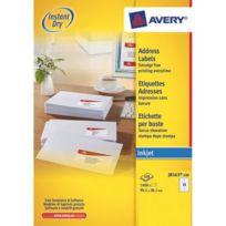 Avery - Etiquettes adresses jet d'encre 99,1 x 38,1 mm J8163-100 - Boîte de 1400