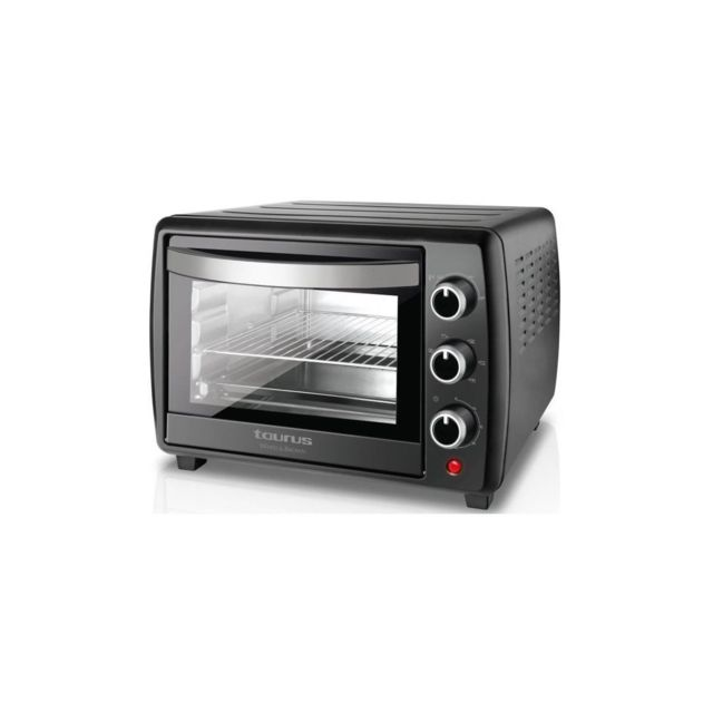 Taurus Horizon 30-Mini four-30 L-1500 W-cuisine traditionnelle, sole et voute, rotissoire et convection-Noir