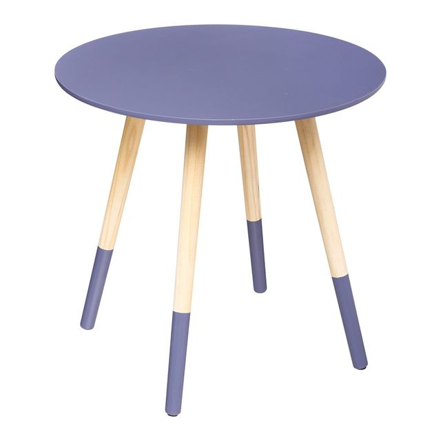 atmosphera table basse mileo berry lovely 48cm bleu violet pas cher achat vente meubles. Black Bedroom Furniture Sets. Home Design Ideas