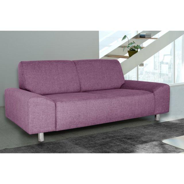 Rocambolesk Canapé Quick 3 savana 70 prune+pieds chrom sofa divan