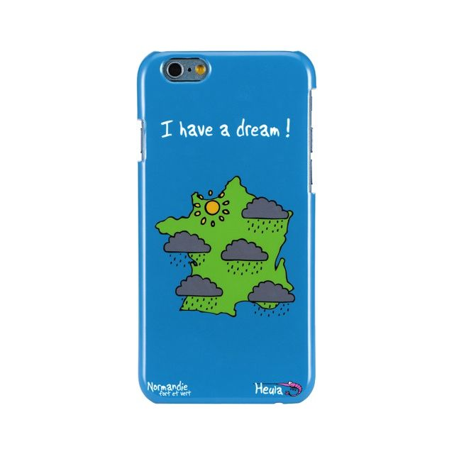 Hihihi - Coque rigide bleue Hihihi Normandie I have a dream pour Apple  iPhone 6 ddaee0e0d555