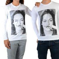 Little Eleven Paris - Tee Shirt Chris Ls Mixte Garçon / Fille, Kristen Stewart Blanc