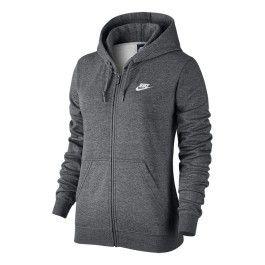 Nike Sweat shirt Sportswear Hoodie Fz gris femme pas