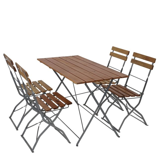 Mendler - Salon de jardin/brasserie 1 table 4 chaises Berlin ...