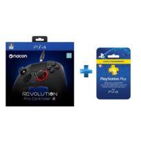 NACON - Manette PS4 Révolution 2 + Abonnement Playstation Plus 3 mois
