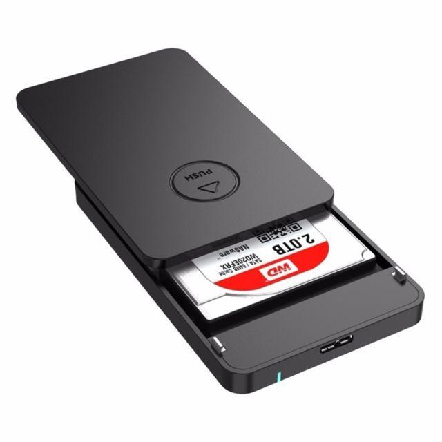 05085fd7934cf Wewoo - Boîtier disque dur noir pour 9.5mm 2.5 pouces Sata Hdd   Ssd 2569S3