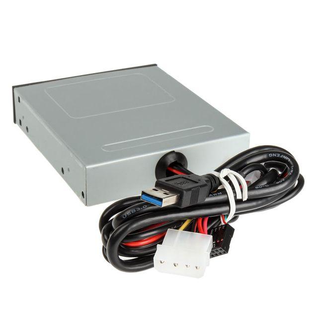 XIGMATEK - Lecteur de cartes mémoire interne Xi-Bay3 - USB 3.0 - Noir