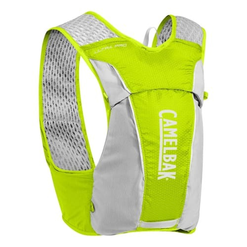 Gilet d'hydratation Ultra Pro Vest de 3,5 litros + 2 bidons Flask de 0,5 litres vert citron