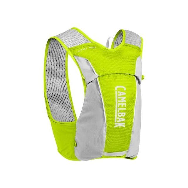 Camelbak Gilet d'hydratation Ultra Pro Vest de 3,5 litros + 2 bidons Flask de 0,5 litres vert citron