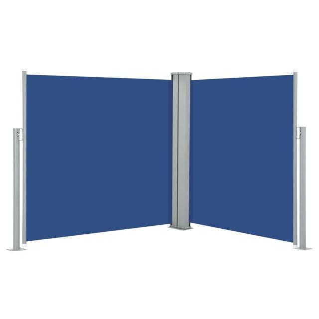 Vidaxl Auvent latéral rétractable Bleu 100 x 600 cm