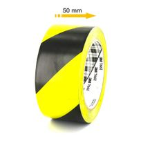 Ruban adhésif vinyle 766 jaune et noir 50mm