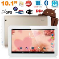 Yonis - Tablette tactile 10 pouces 3G Double Sim Quad Core WiFi Gps 20Go Or